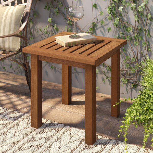Arianna Teak Side Table by Langley Street