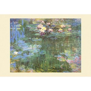 'Waterlilies, 1918' by Claude Monet Painting Print by Buyenlarge