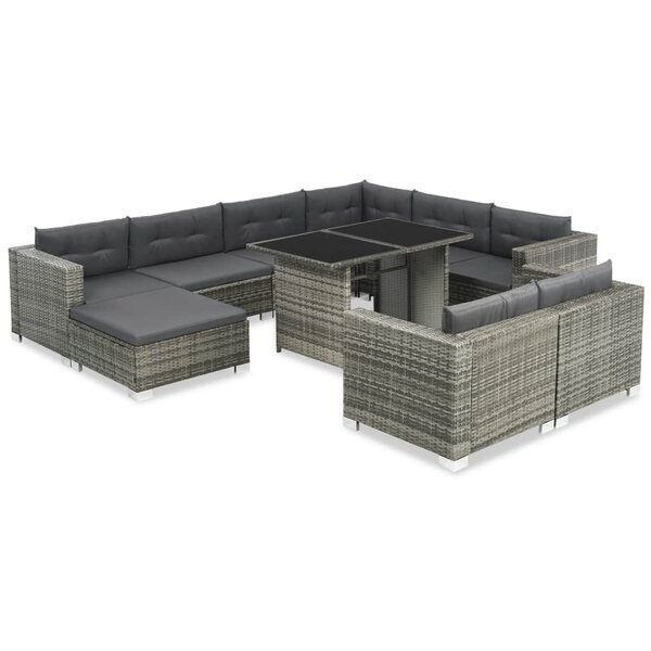 Weybridge Outdoor 10 Piece Sectional Seating Group with Cushions by Ivy Bronx