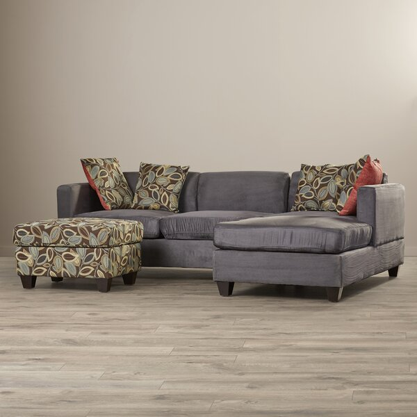 Whittaker Right Hand Facing Reversible Sectional with Ottoman by Ebern Designs