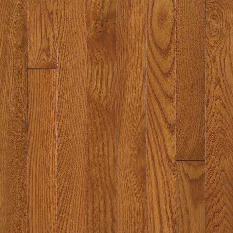 Waltham Random Width Solid Oak Hardwood Flooring in Brass by Bruce Flooring