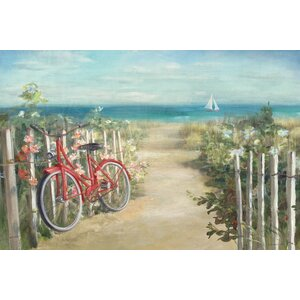 Summer Ride Crop Painting Print on Wrapped Canvas by East Urban Home