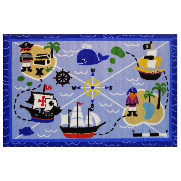Fun Time Buried Treasures Blue Area Rug by Fun Rugs