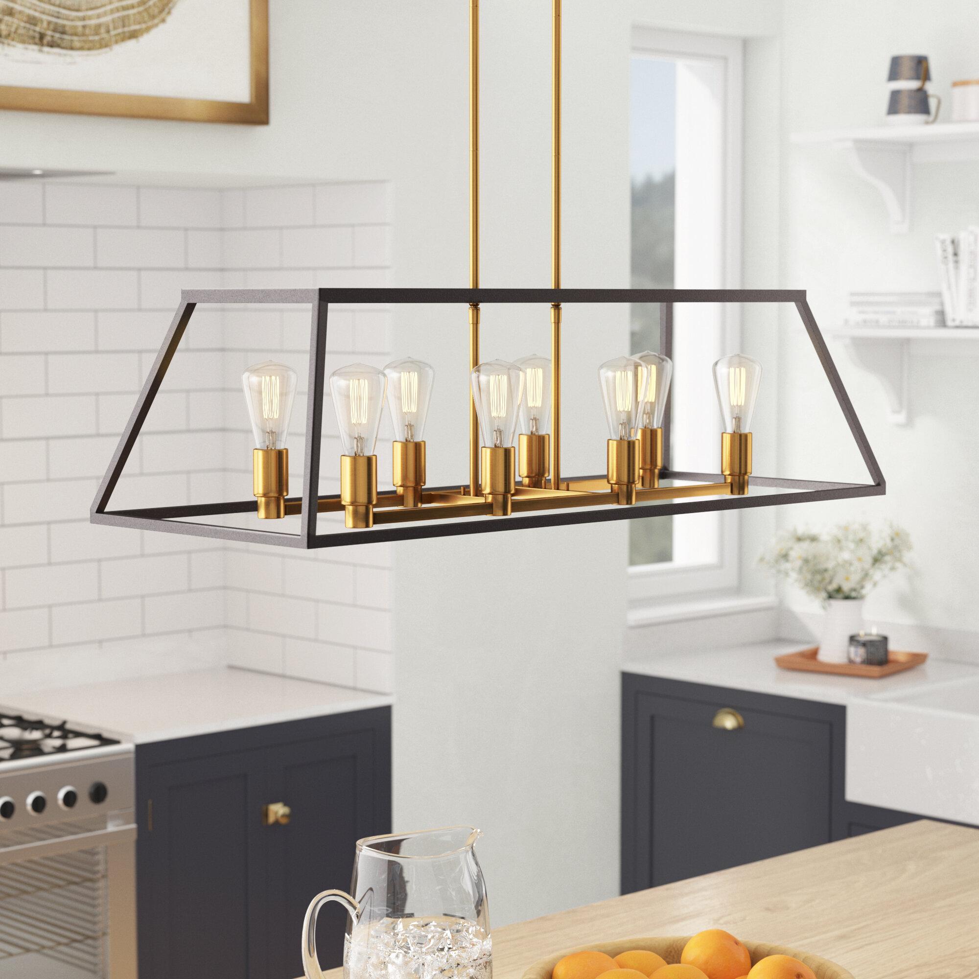 Brayden Studio Sheredan 8-Light Kitchen Island Pendant & Reviews ...