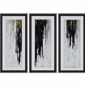Neutral Space I by Conley 3 Piece Framed Painting Print Set by Paragon