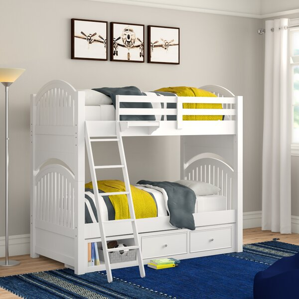 Nickelsville Twin Over Twin Bunk Bed With Drawers By Three Posts Baby & Kids