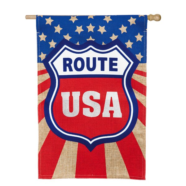 Route USA Vertical Flag by Evergreen Enterprises, Inc