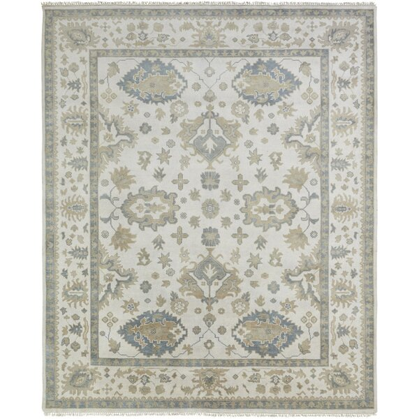 Lillie Hand Knotted Wool Ivory Area Rug by Darby Home Co