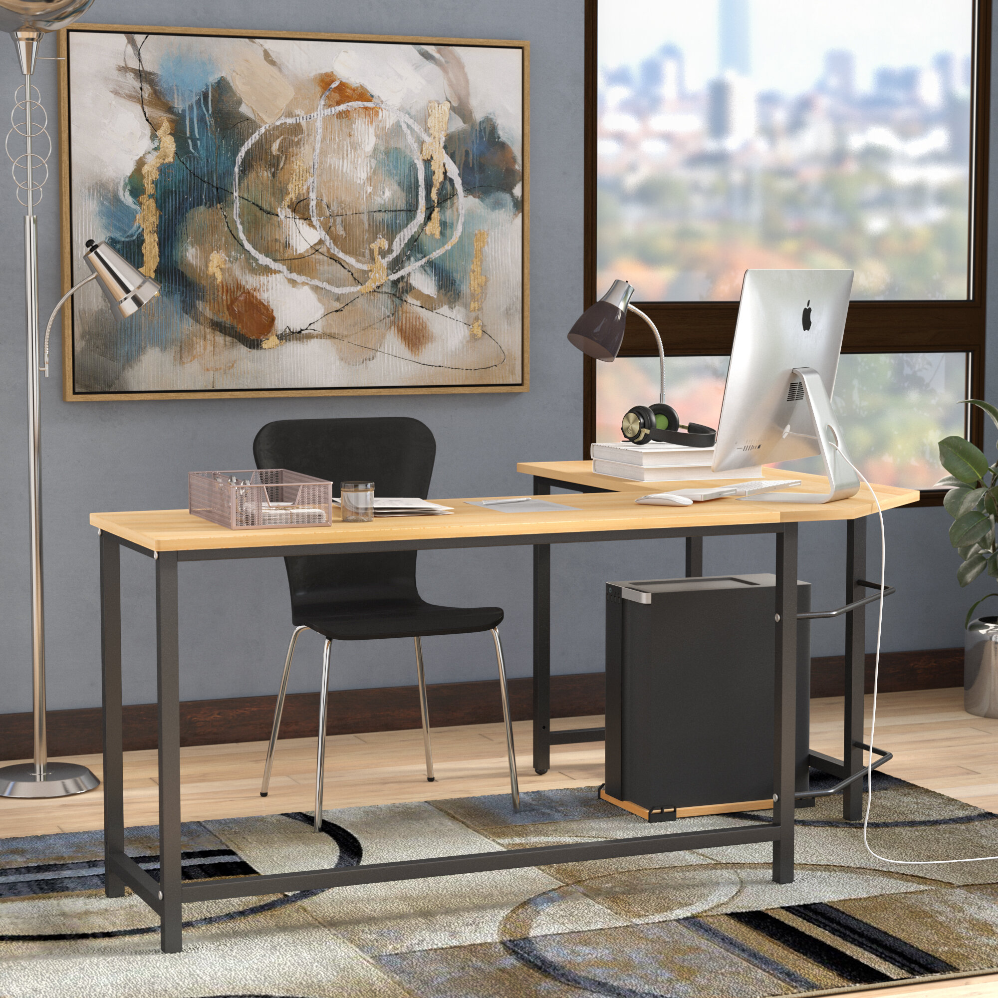 Ebern Designs Harkey L-Shaped Computer Desk & Reviews | Wayfair on office cubicles, office computers, office stools, office desks, office tables, office pens, office trash can, office reception, office lobby, office footrest, office lamps, office furniture, office beds, office counters, office bookcases, office sofa sets, office kitchen, office accessories, office employees, office couch,