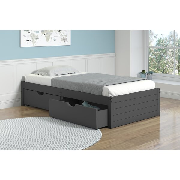 Collings Twin Platform Bed with Drawer by Harriet Bee