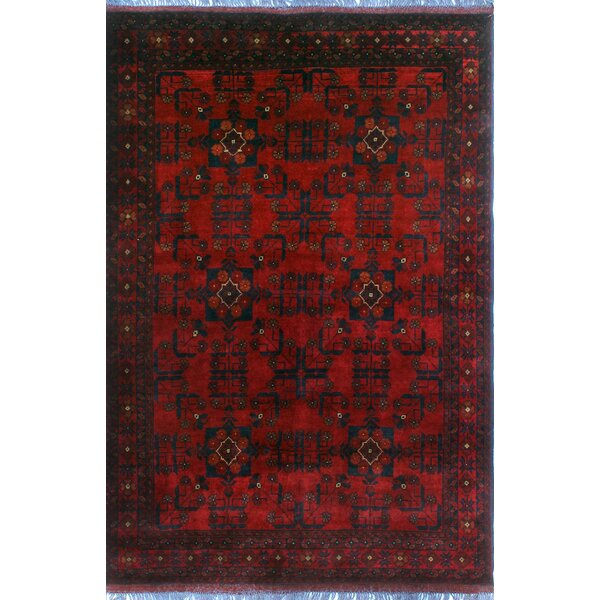 One-of-a-Kind Millar Hondo Hand-Knotted Wool Red Are Rug by Bloomsbury Market