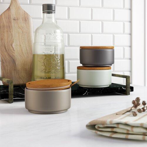 450 ml 3-tlg. Vorratsdosen-Set Norden Home Farbe: Grau/Blassblau | Küche und Esszimmer > Aufbewahrung > Vorratsdosen | Norden Home
