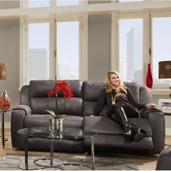 Excellent Brands Dazzle Reclining Loveseat with Power Headrest by Southern Motion by Southern Motion