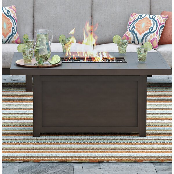 Luciano Aluminum Propane Fire Pit Table by Mistana