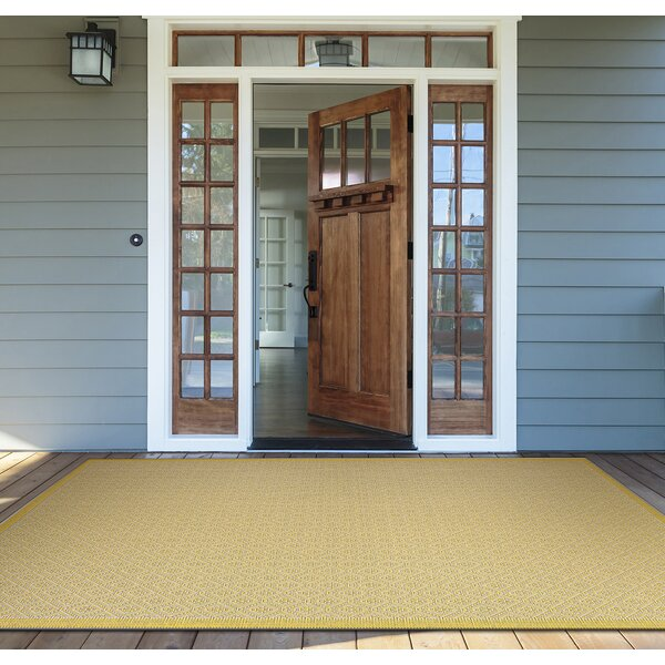 Crivello Yellow Area Rug by Mercury Row