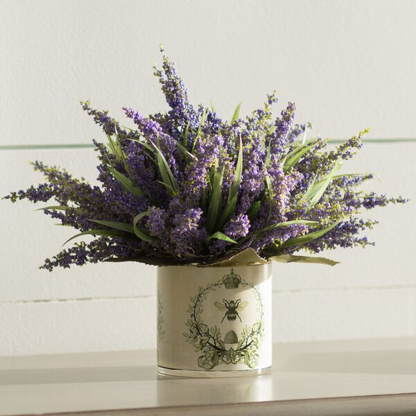 Lavender Heather in Decoupage Pot by Birch Lane™