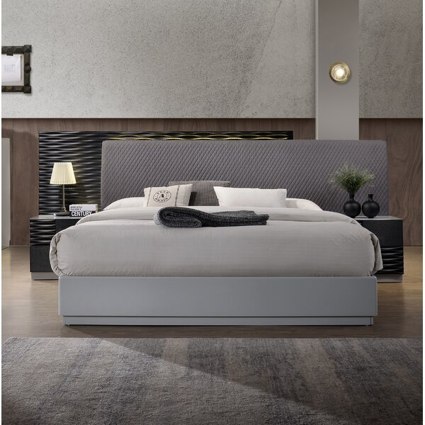 Bernice Upholstered Platform Bed by Wrought Studio