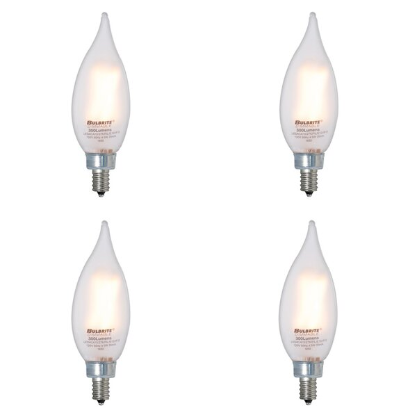 E12 Dimmable LED Light Bulb Frosted (Set of 4) by Bulbrite Industries