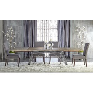 Parfondeval Extendable Metal Base Dining Table by Lark Manor
