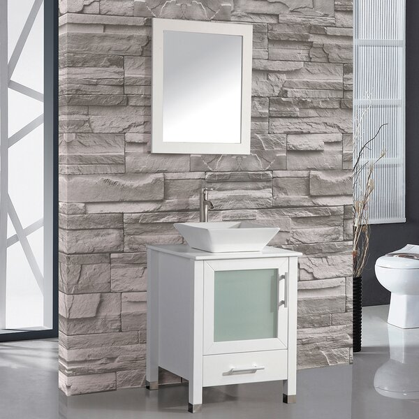 Bosarge 24 Single Bathroom Vanity Set with Mirror by Mercury RowBosarge 24 Single Bathroom Vanity Set with Mirror by Mercury Row