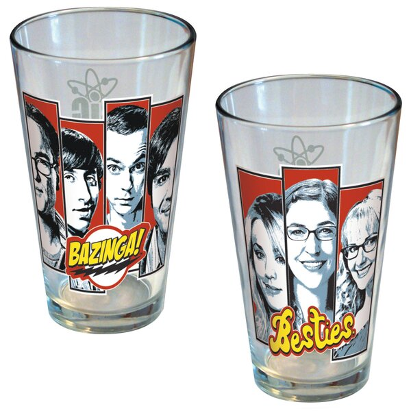 Big Bang Theory Bazinga and Besties Pint 16 oz. Glass by ICUP Inc