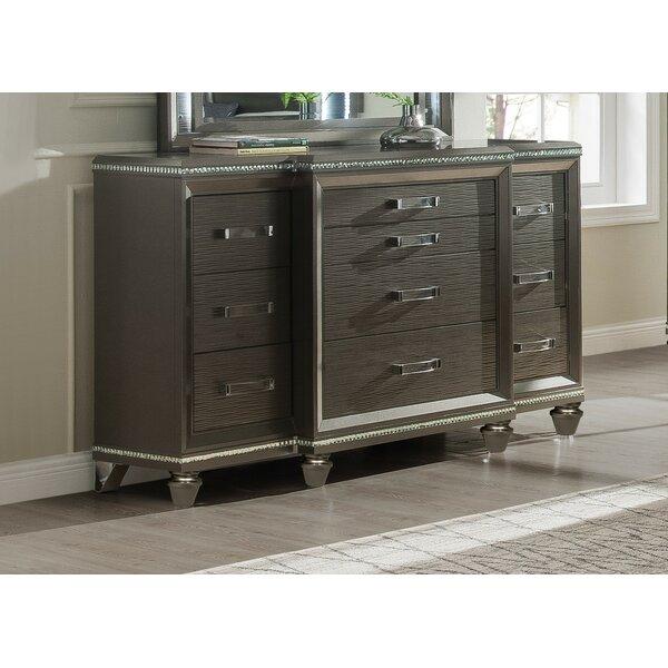 Garr 10 Drawer Standard Dresser by Everly Quinn