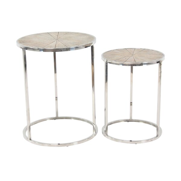 Stokely Rustic Round Nesting Tables (Set of 2) by Latitude Run