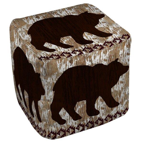 Wilderness Bear Pouf by Manual Woodworkers & Weavers