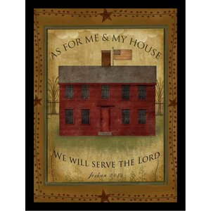 'Primitive House Poster' by Beth Albert Framed Graphic Art by Buy Art For Less