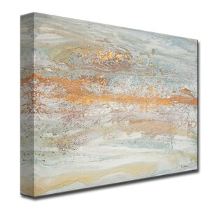 'Flecks of Gold' by Norman Wyatt Jr. Painting Print on Wrapped Canvas by Ready2hangart