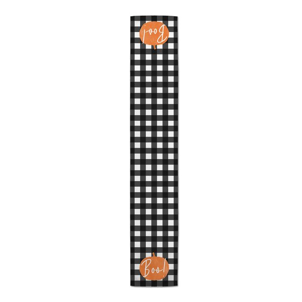 Scarlet Boo Buffalo Check Table Runner by The Holiday Aisle