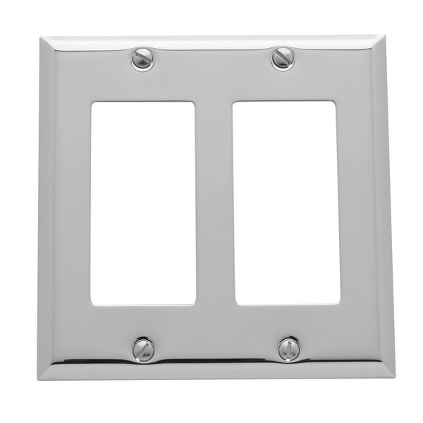 Classic Square Bevel Design Double GFCI Switch Plate by Baldwin