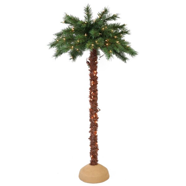 Pre-Lit Artificial Palm Tree by Bay Isle Home