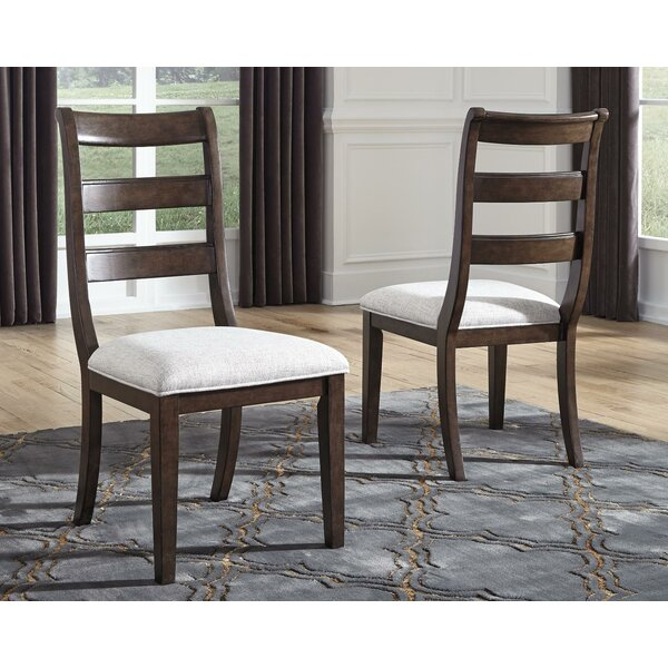 Perei Upholstered Ladder Back Side Chair In Brown (Set Of 2) By Charlton Home
