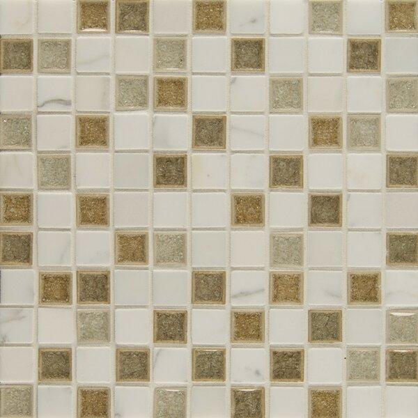 Kisment 1 x 1 Glass Mosaic Tile in Zen by Bedrosians