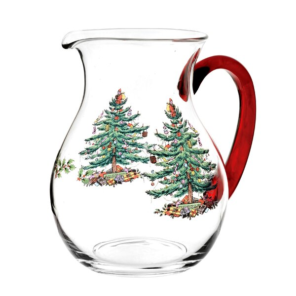 Christmas Tree Glass Pitcher by Spode