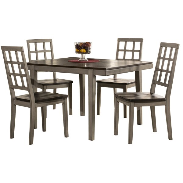 Hollansburg 5 Piece Dining Set by Alcott Hill