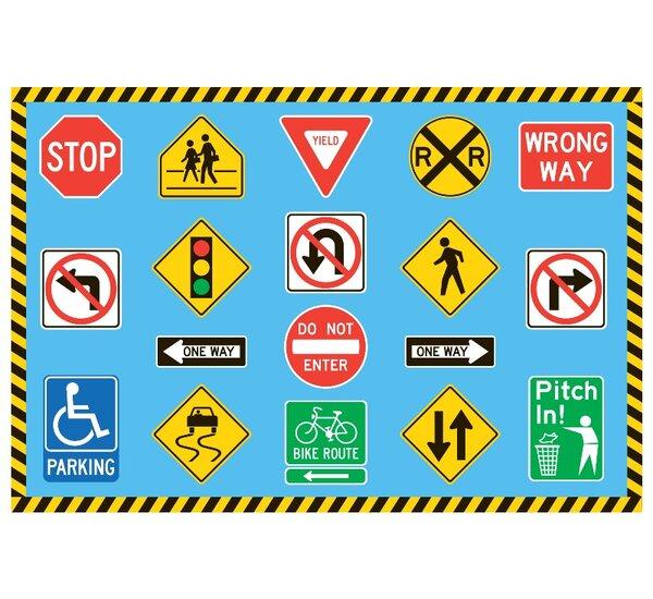 Fun Time Traffic Signs Kids Rug by Fun Rugs