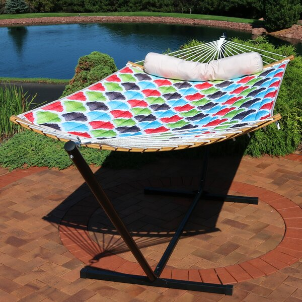 Loreen Quilted Double Speader Bar Hammock by Freeport Park