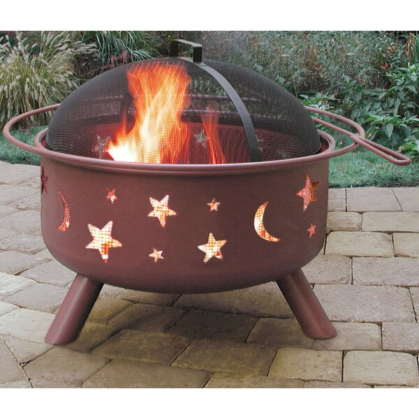Big Sky Stars and Moon Steel Wood Burning Fire Pit
