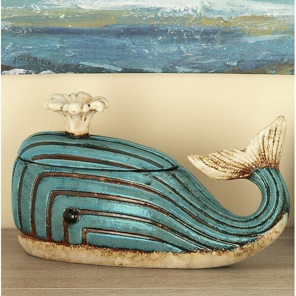 Finkel Jute Rope Whale Jar Figurine by Breakwater Bay