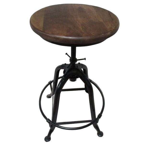 Motta Adjustable Height Swivel Bar Stool by Williston Forge