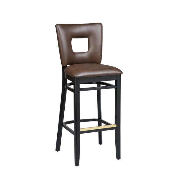 Dobbs Beechwood Square Open Back Bar Stool by Latitude Run