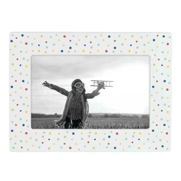 Zoom Zoom Polka Dot Picture Frame by Reed & Barton