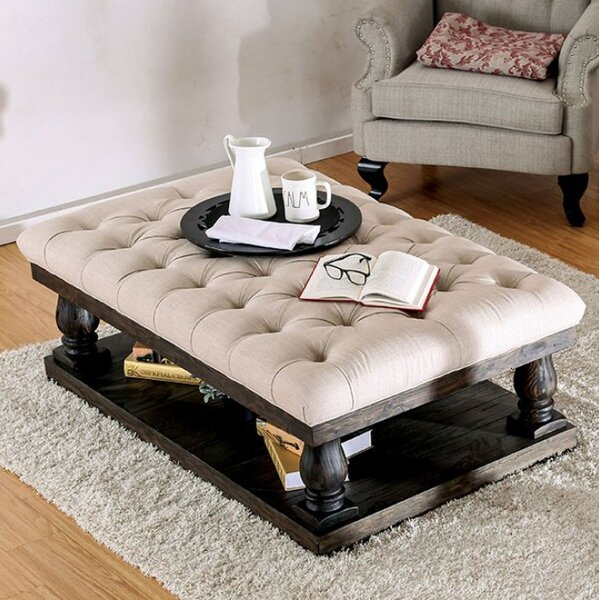 Blackfriars Coffee Table with Cushion Top by Canora Grey