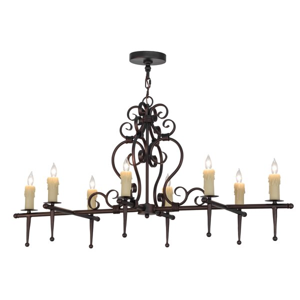 Meltham 8 - Light Candle Style Square / Rectangle Chandelier by Astoria Grand Astoria Grand