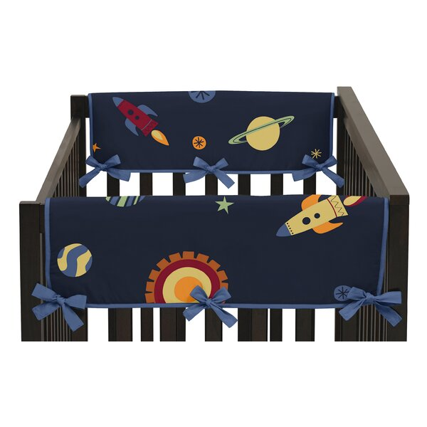 Space Galaxy Side Crib Rail Guard Cover (Set of 2) by Sweet Jojo Designs
