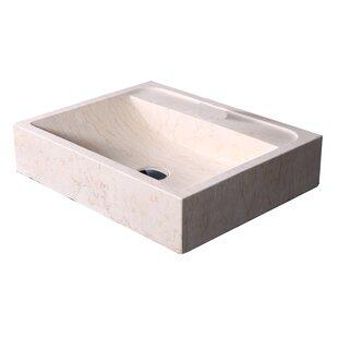 Compare & Buy Pandora Stone Rectangular Vessel Bathroom Sink ByVirtu USA