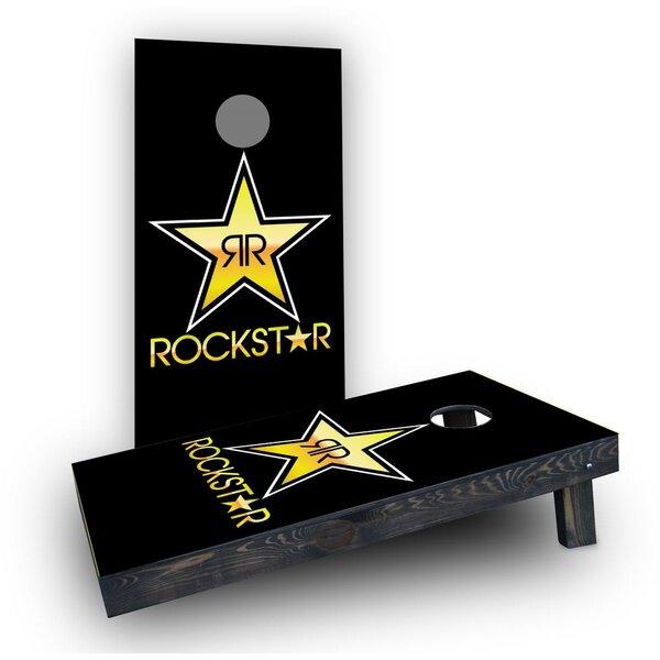 Rockstar Energy Drink Cornhole Boards (Set of 2) by Custom Cornhole Boards