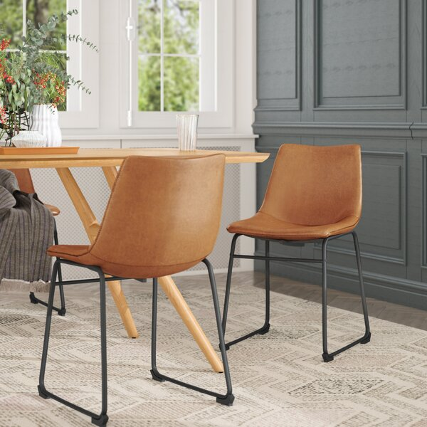 Cladeus Vintage Upholstered Dining Chair (Set of 2) by Wrought Studio